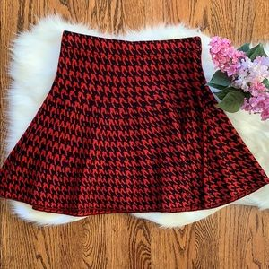 Candie's Red and Black Skirt